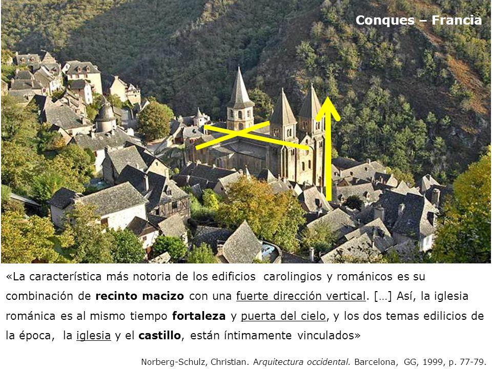transepto ábside capilla radial capilla radial absidiola girola contrafuerte cimborrio cru cero Santa Fe Conques – Francia 1050-1130
