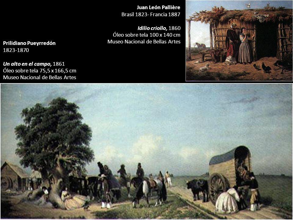 Prilidiano Pueyrredón 1823-1870 Un alto en el campo, 1861 Óleo sobre tela 75,5 x 166,5 cm Museo Nacional de Bellas Artes Juan León Pallière Brasil 182