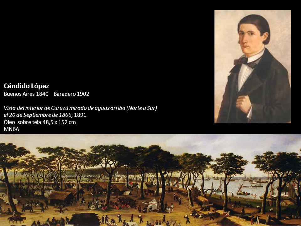 Cándido López Buenos Aires 1840 – Baradero 1902 Vista del interior de Curuzú mirado de aguas arriba (Norte a Sur) el 20 de Septiembre de 1866, 1891 Ól