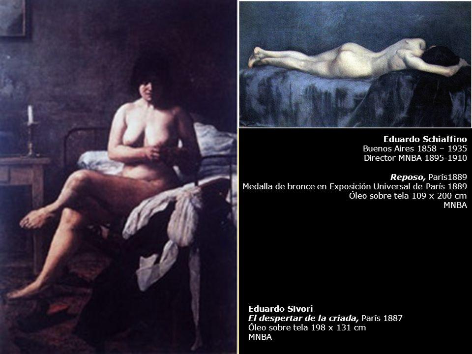 Eduardo Schiaffino Buenos Aires 1858 – 1935 Director MNBA 1895-1910 Reposo, París1889 Medalla de bronce en Exposición Universal de París 1889 Óleo sob