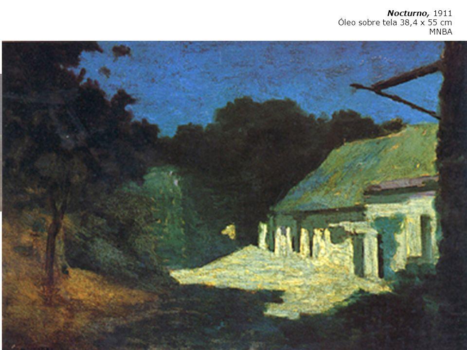 Martín Malharro Azul 1865 Buenos Aires 1911 Las parvas (La Pampa de hoy) 1911 Óleo sobre tela 65,5 x 82 cm MNBA Nocturno 1909 Nocturno, 1911 Óleo sobr
