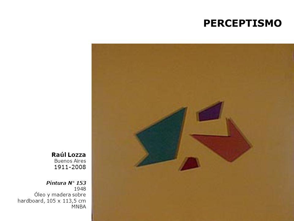 Pintura N° 153 1948 Óleo y madera sobre hardboard, 105 x 113,5 cm MNBA Raúl Lozza Buenos Aires 1911-2008 PERCEPTISMO