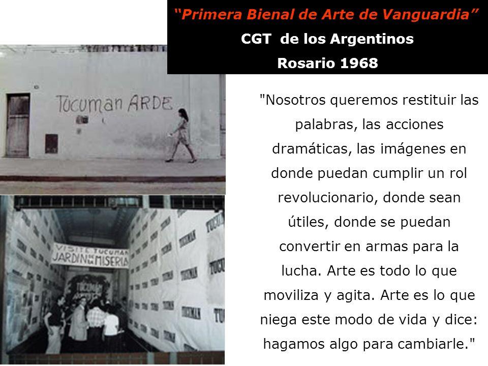 Primera Bienal de Arte de Vanguardia CGT de los Argentinos Rosario 1968