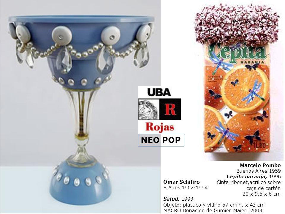 Omar Schiliro B.Aires 1962-1994 Salud, 1993 Objeto: plástico y vidrio 57 cm h. x 43 cm MACRO Donación de Gumier Maier., 2003 Marcelo Pombo Buenos Aire