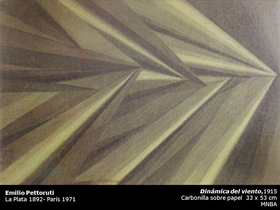 Dinámica del viento,1915 Carbonilla sobre papel 33 x 53 cm MNBA Emilio Pettoruti La Plata 1892- París 1971