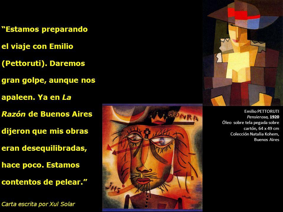 Xul Solar (Alejandro Schulz Solari Tigre 1887- Buenos Aires 1963 Jefa Honra, 1923 Acuarela sobre papel, 28 x 26 cm Colección George and Marion Helft,