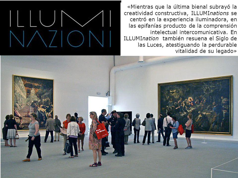 «Mientras que la última bienal subrayó la creatividad constructiva, ILLUMInations se centró en la experiencia iluminadora, en las epifanías producto d
