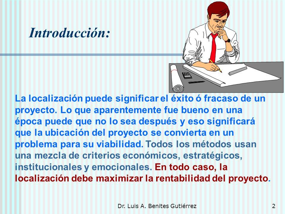 Dr.Luis A. Benites Gutiérrez3 1. Localización 1.