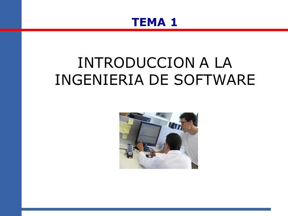 TEMA 1 INTRODUCCION A LA INGENIERIA DE SOFTWARE