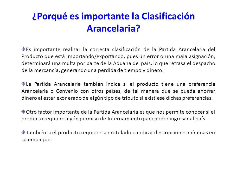 Es importante realizar la correcta clasificación de la Partida Arancelaria del Producto que está importando/exportando, pues un error o una mala asign