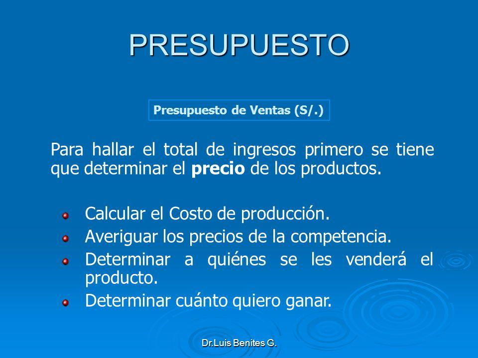 Para hallar el total de ingresos primero se tiene que determinar el precio de los productos. Calcular el Costo de producción. Averiguar los precios de