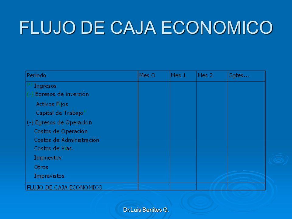 FLUJO DE CAJA ECONOMICO Dr.Luis Benites G.