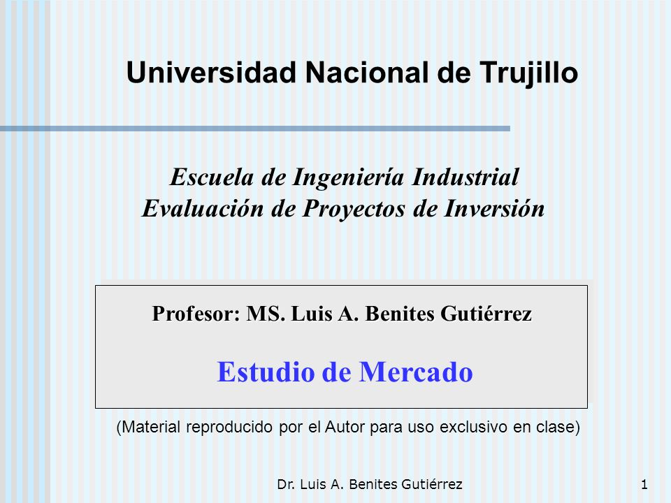 Dr.Luis A. Benites Gutiérrez32 Son en su mayoría hombres de edad mediana.