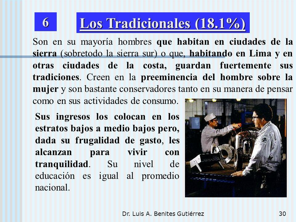 Dr. Luis A. Benites Gutiérrez30 Son en su mayoría hombres que habitan en ciudades de la sierra (sobretodo la sierra sur) o que, habitando en Lima y en