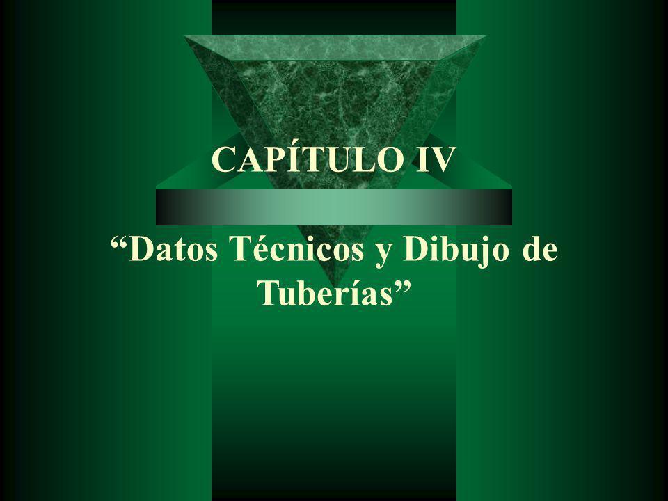 CAPÍTULO IV Datos Técnicos y Dibujo de Tuberías