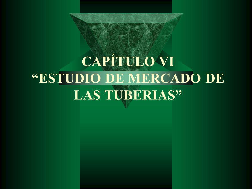 CAPÍTULO VI ESTUDIO DE MERCADO DE LAS TUBERIAS