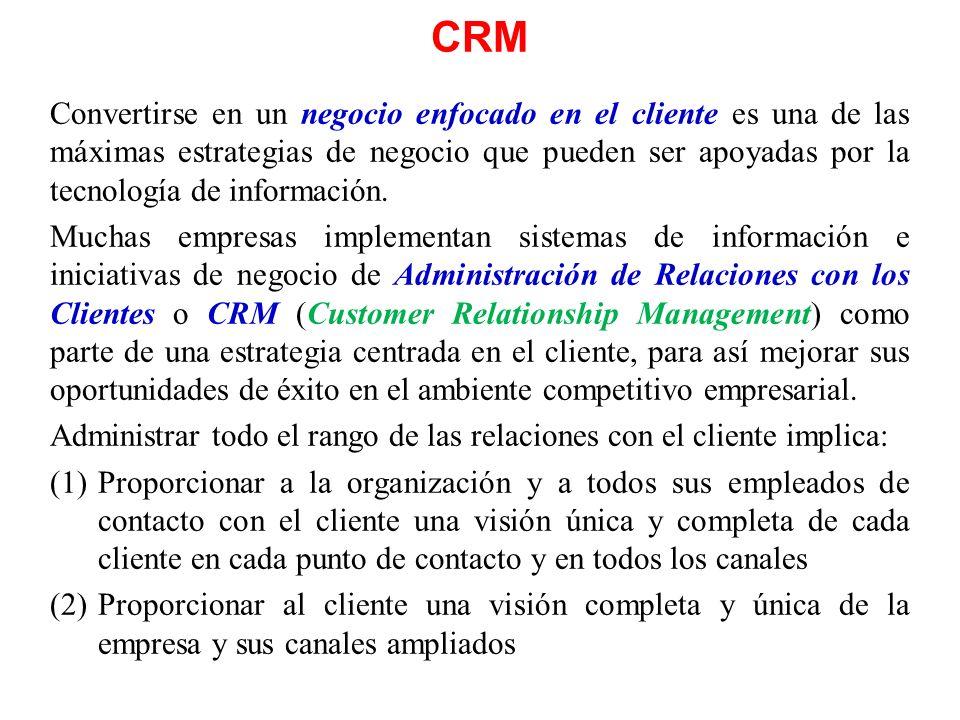 CRM Convertirse en un negocio enfocado en el cliente es una de las máximas estrategias de negocio que pueden ser apoyadas por la tecnología de informa