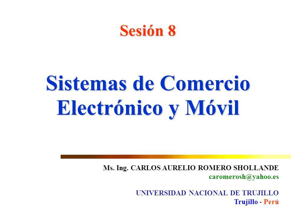 Sistemas de Comercio Electrónico y Móvil Sesión 8 Ms.