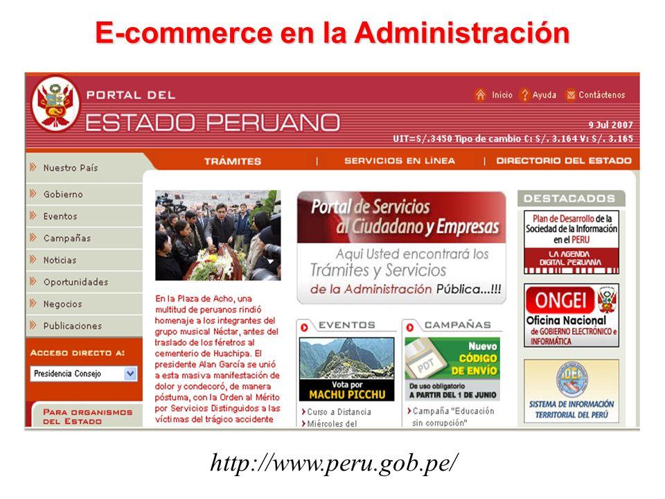 http://www.peru.gob.pe/ E-commerce en la Administración
