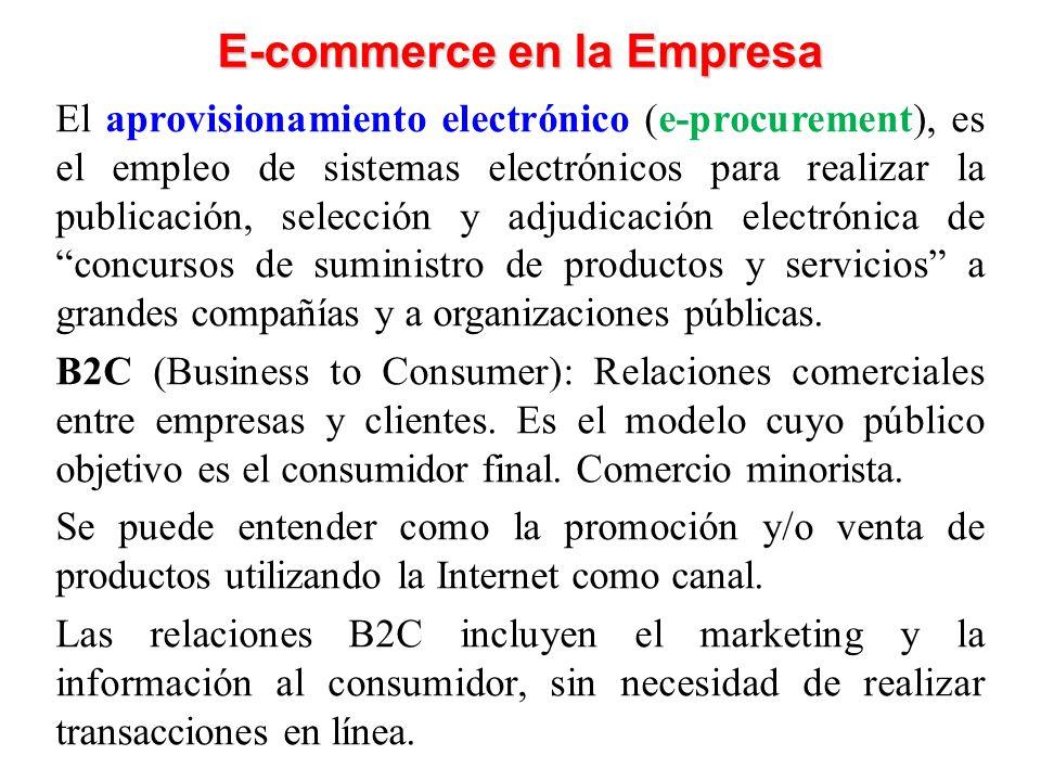 El aprovisionamiento electrónico (e-procurement), es el empleo de sistemas electrónicos para realizar la publicación, selección y adjudicación electrónica de concursos de suministro de productos y servicios a grandes compañías y a organizaciones públicas.