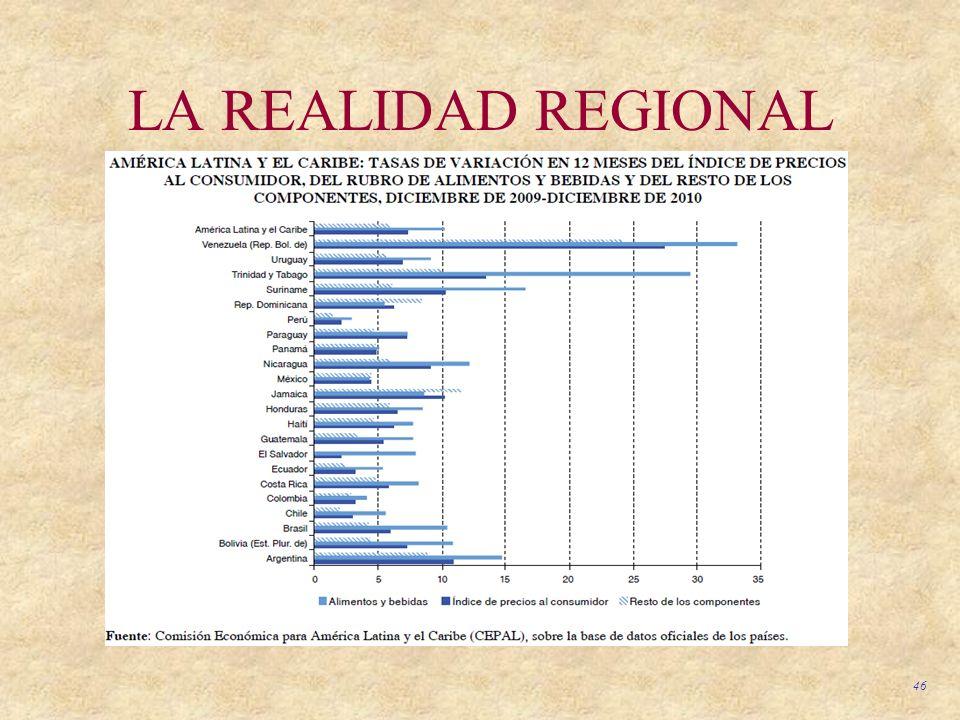 46 LA REALIDAD REGIONAL
