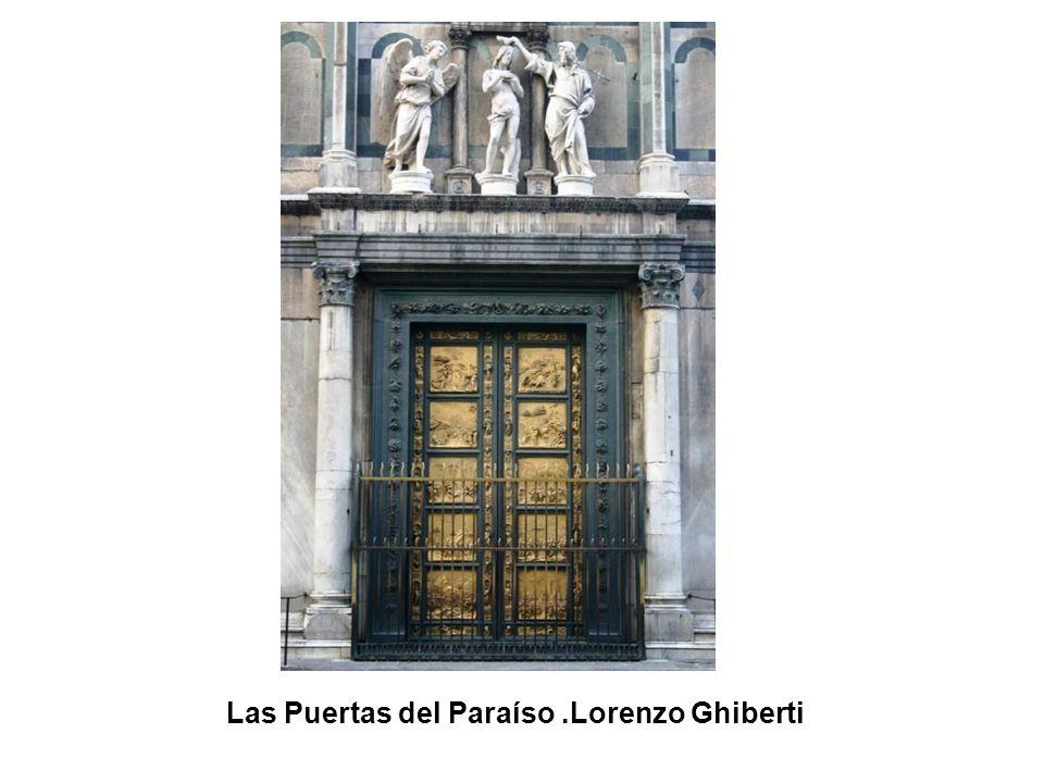 Las Puertas del Paraíso (detalle).Lorenzo Ghiberti