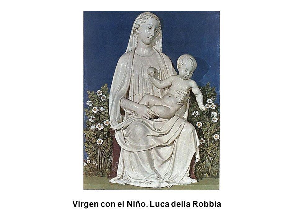 Virgen con el Niño. Luca della Robbia