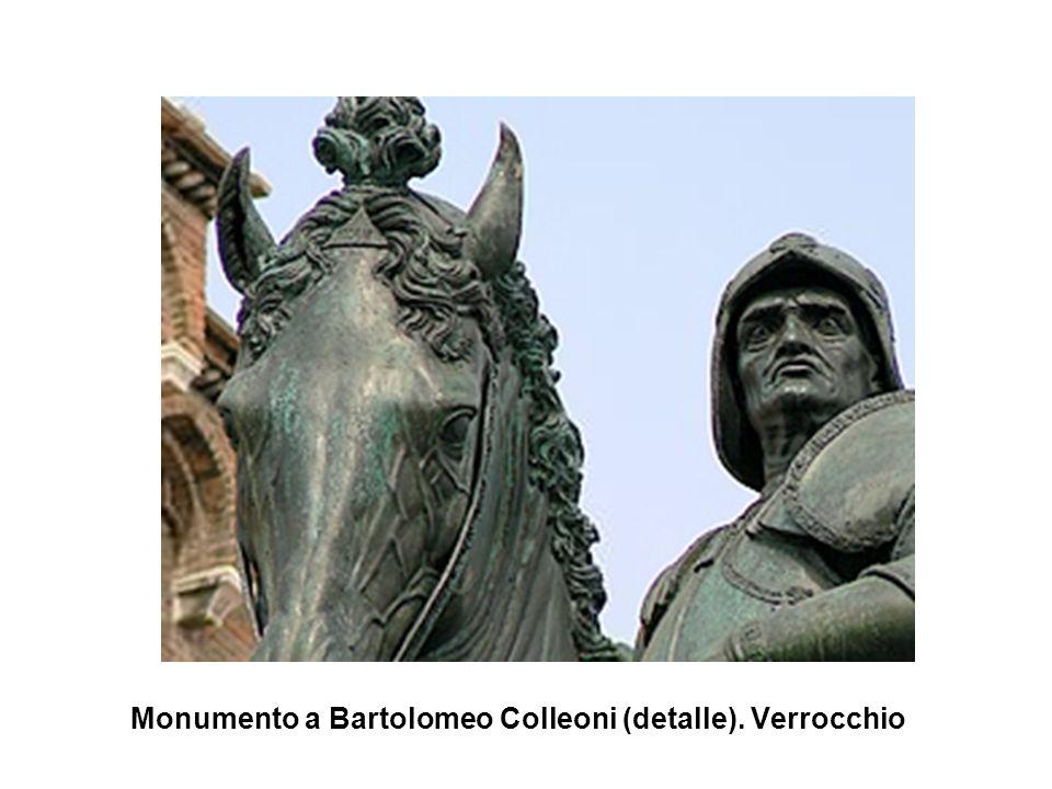 Monumento a Bartolomeo Colleoni (detalle). Verrocchio