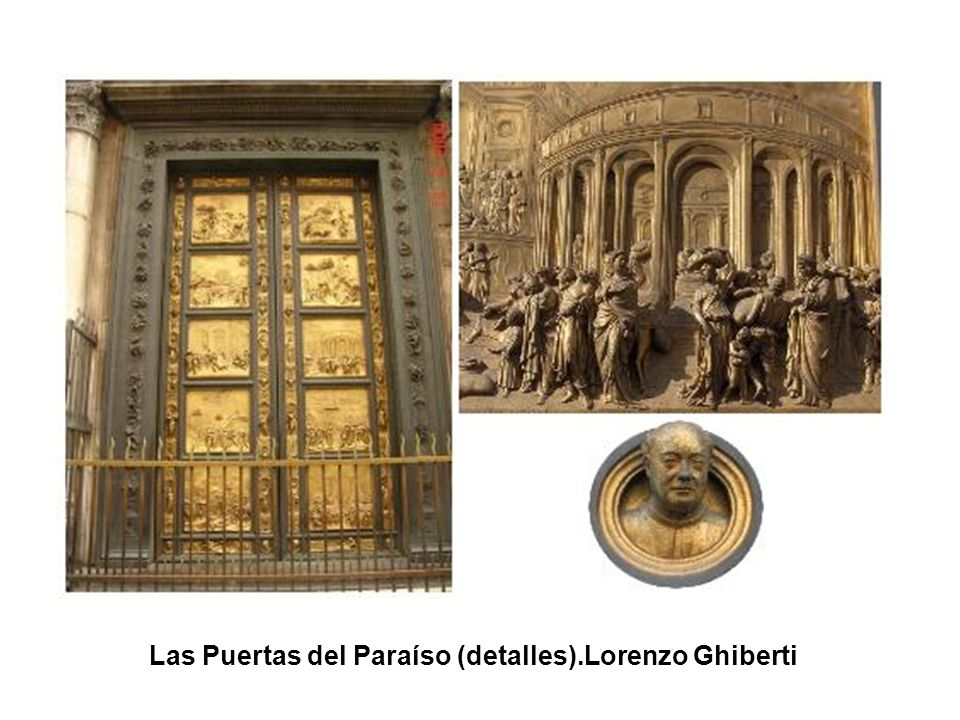 Las Puertas del Paraíso (detalles).Lorenzo Ghiberti
