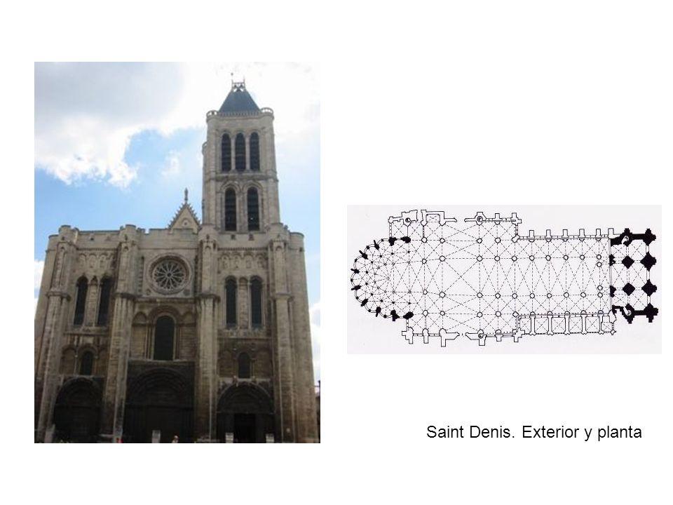 Saint Denis. Exterior y planta