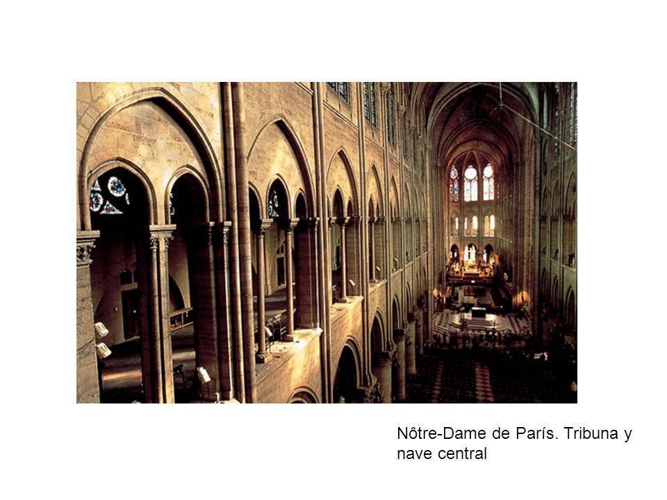 Nôtre-Dame de París. Tribuna y nave central
