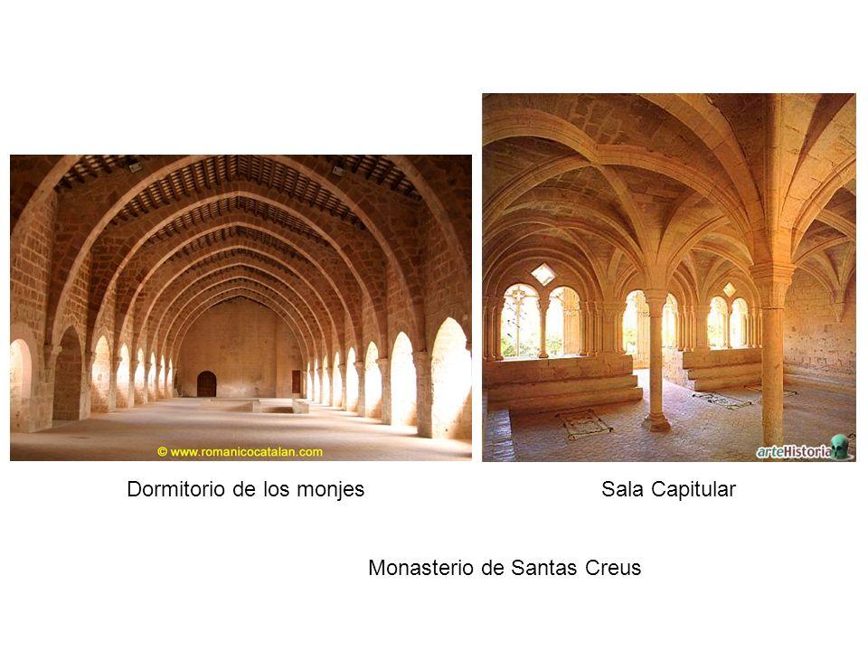 Dormitorio de los monjes Sala Capitular Monasterio de Santas Creus