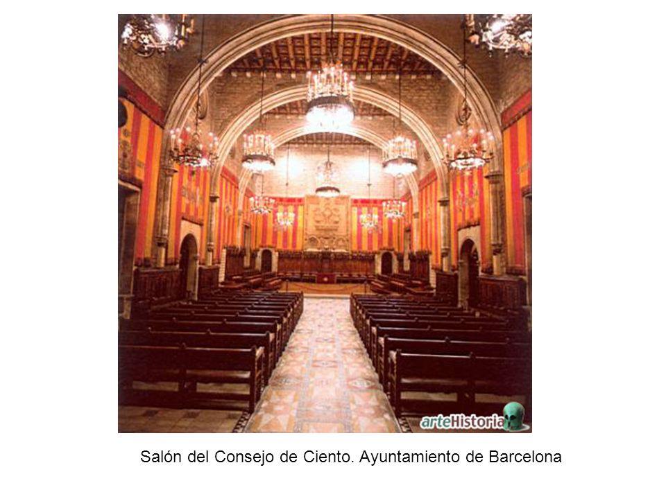 Salón del Consejo de Ciento. Ayuntamiento de Barcelona