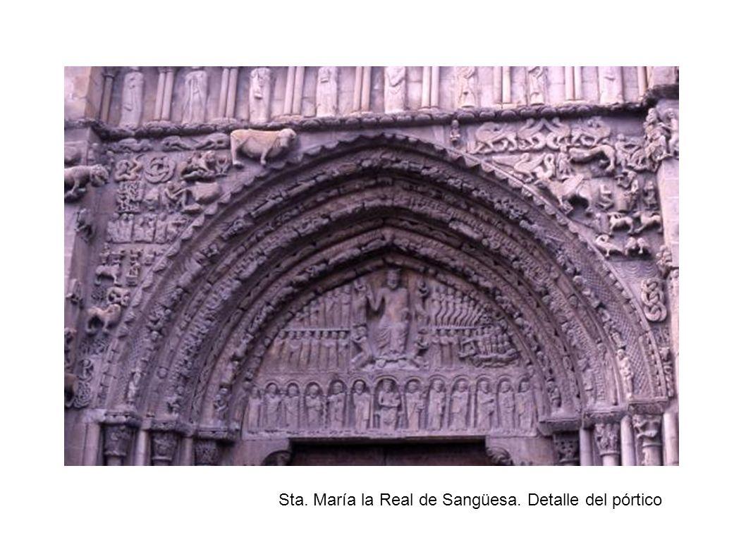 Sta. María la Real de Sangüesa. Detalle del pórtico