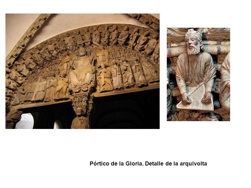 Pórtico de la Gloria. Detalle de la arquivolta