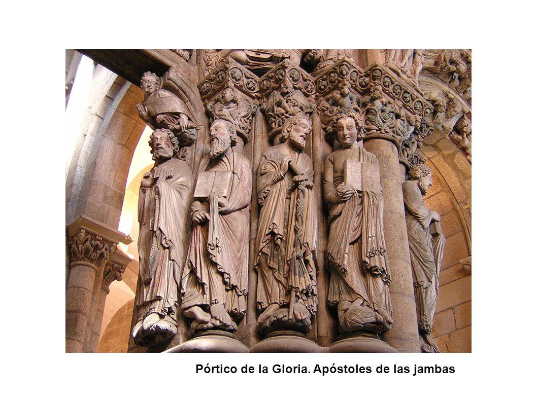 Pórtico de la Gloria. Apóstoles de las jambas