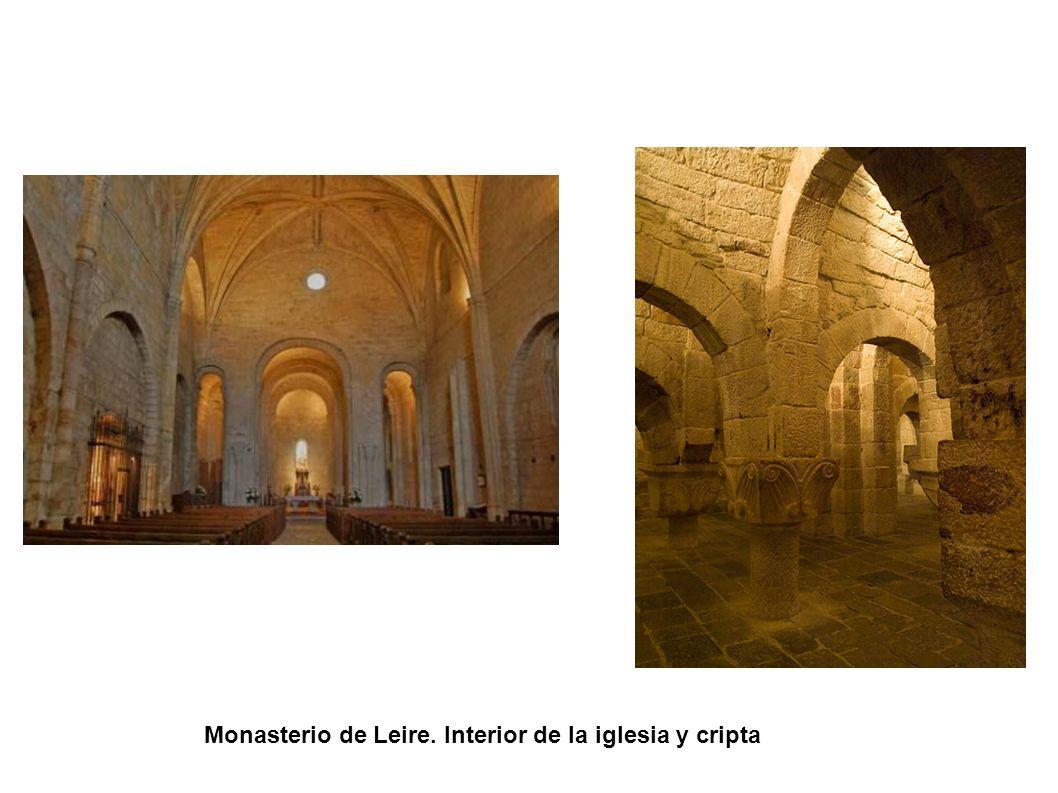 Monasterio de Leire. Interior de la iglesia y cripta