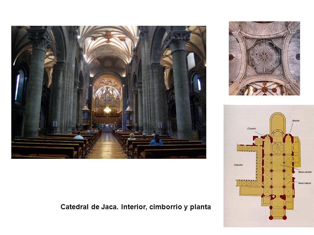 Catedral de Jaca. Interior, cimborrio y planta