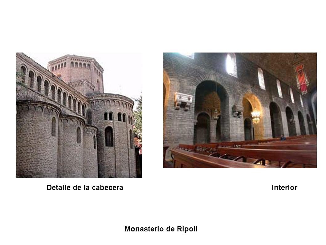 Detalle de la cabecera Interior Monasterio de Ripoll