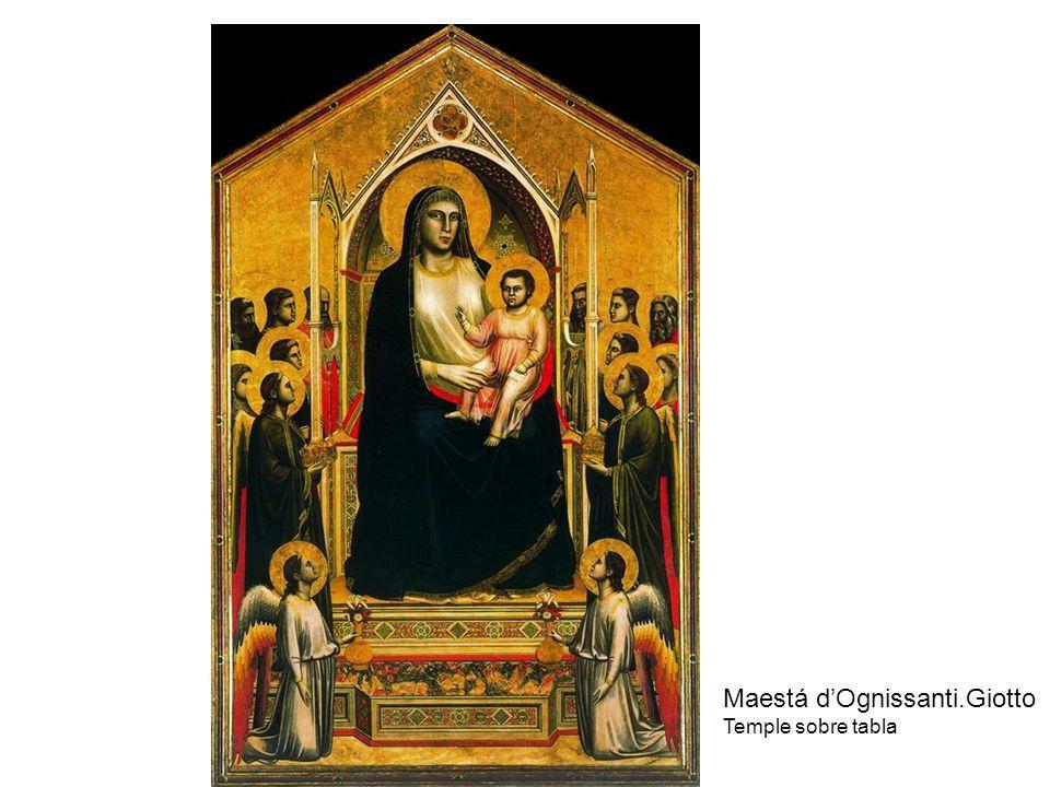 Maestá dOgnissanti.Giotto Temple sobre tabla