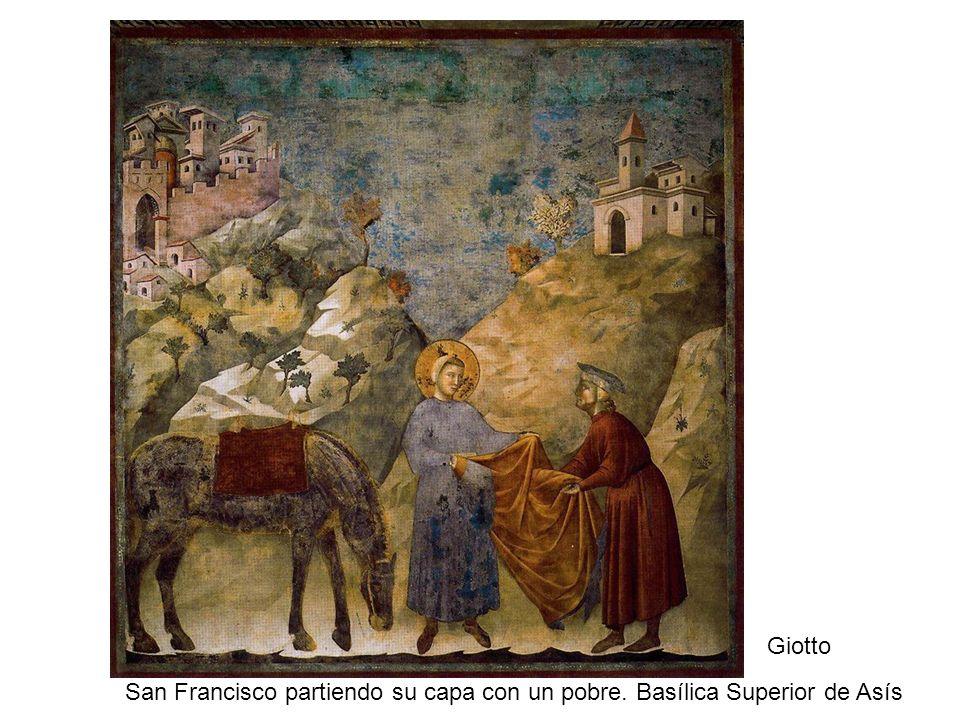 San Francisco partiendo su capa con un pobre. Basílica Superior de Asís Giotto