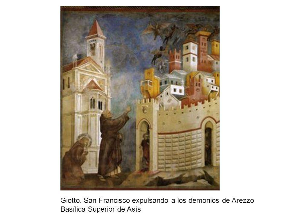 Giotto. San Francisco expulsando a los demonios de Arezzo Basílica Superior de Asís