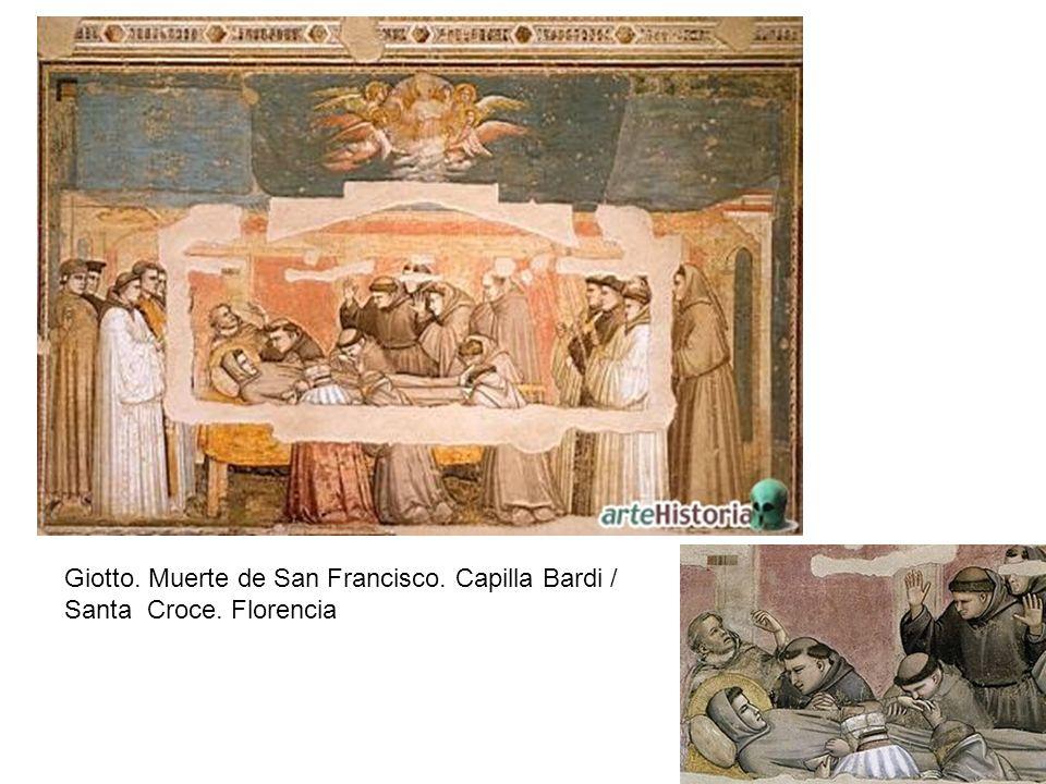 Giotto. Muerte de San Francisco. Capilla Bardi / Santa Croce. Florencia