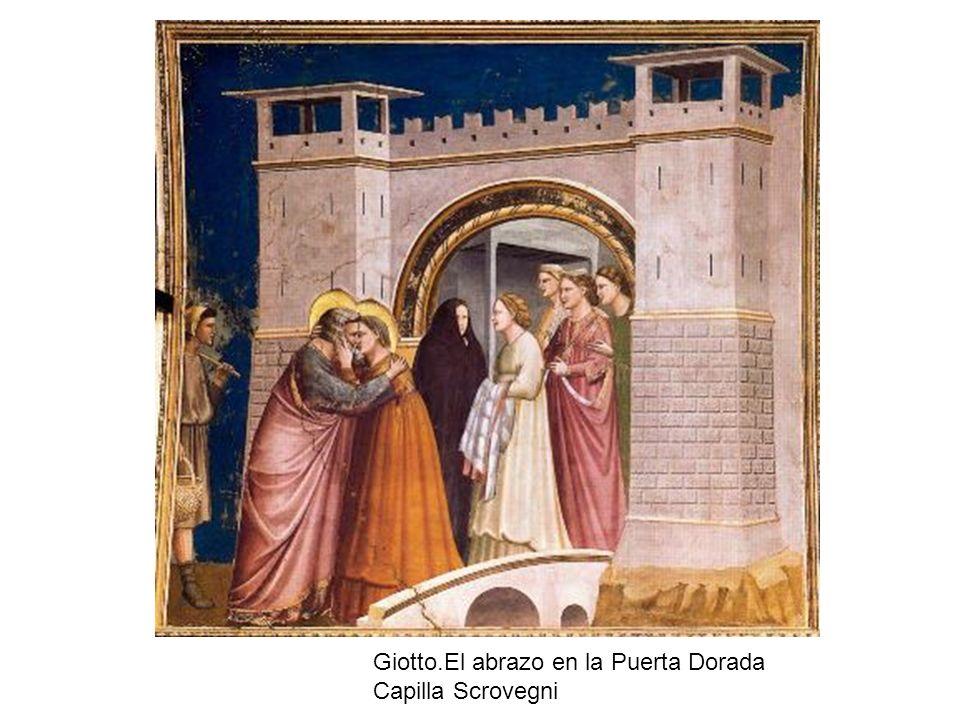 Giotto.El abrazo en la Puerta Dorada Capilla Scrovegni