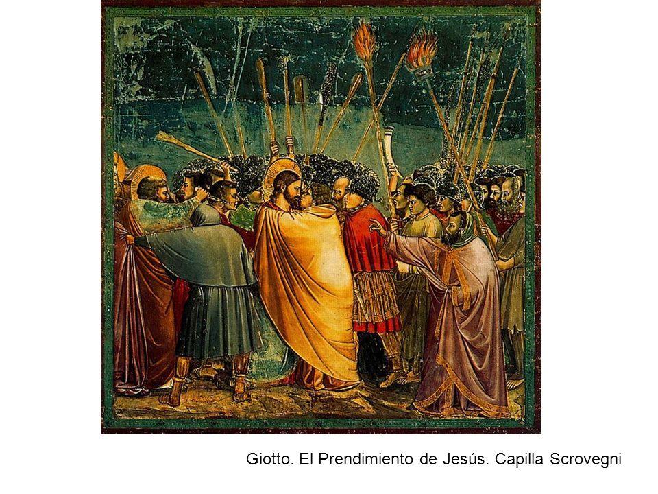 Giotto. El Prendimiento de Jesús. Capilla Scrovegni