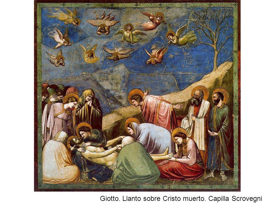 Giotto. Llanto sobre Cristo muerto. Capilla Scrovegni
