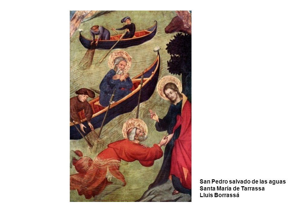 San Pedro salvado de las aguas Santa María de Tarrassa Lluis Borrassá