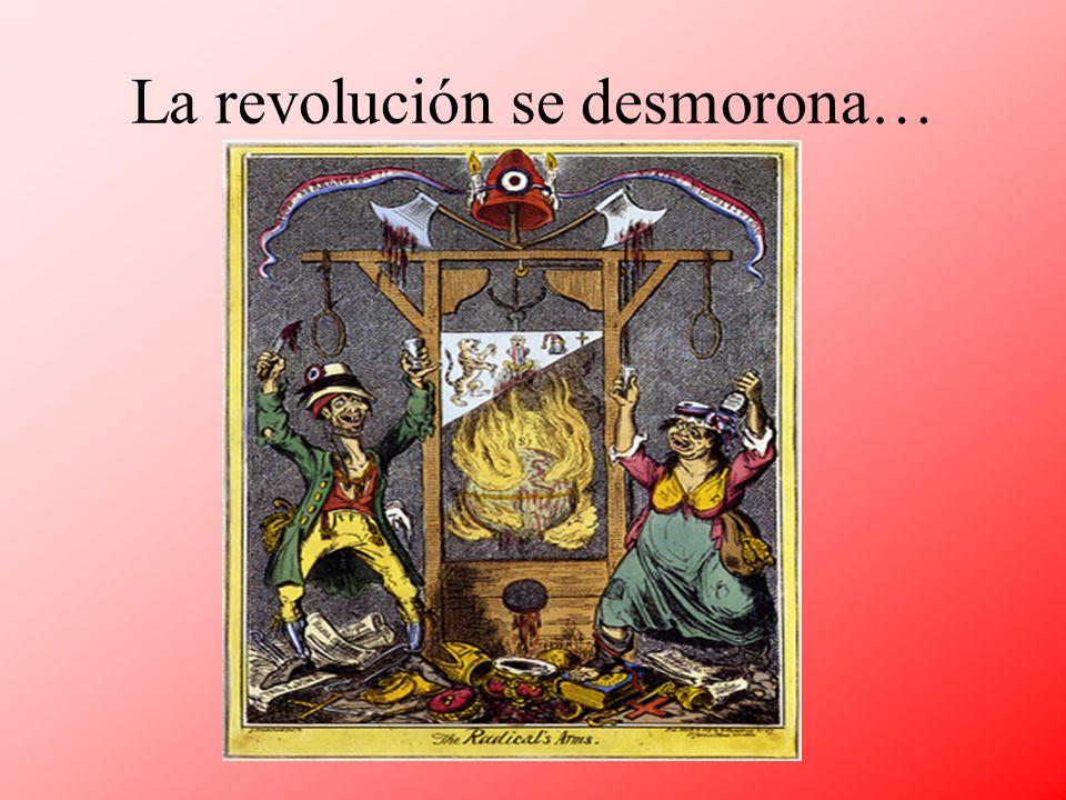 La revolución se desmorona…