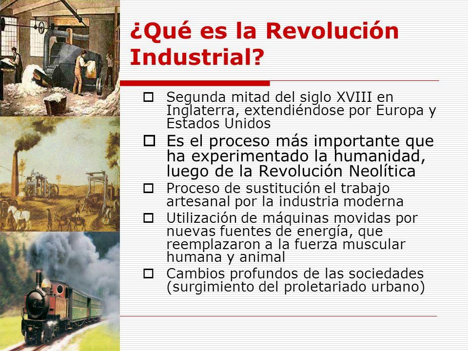 ¿Qué es la Revolución Industrial.