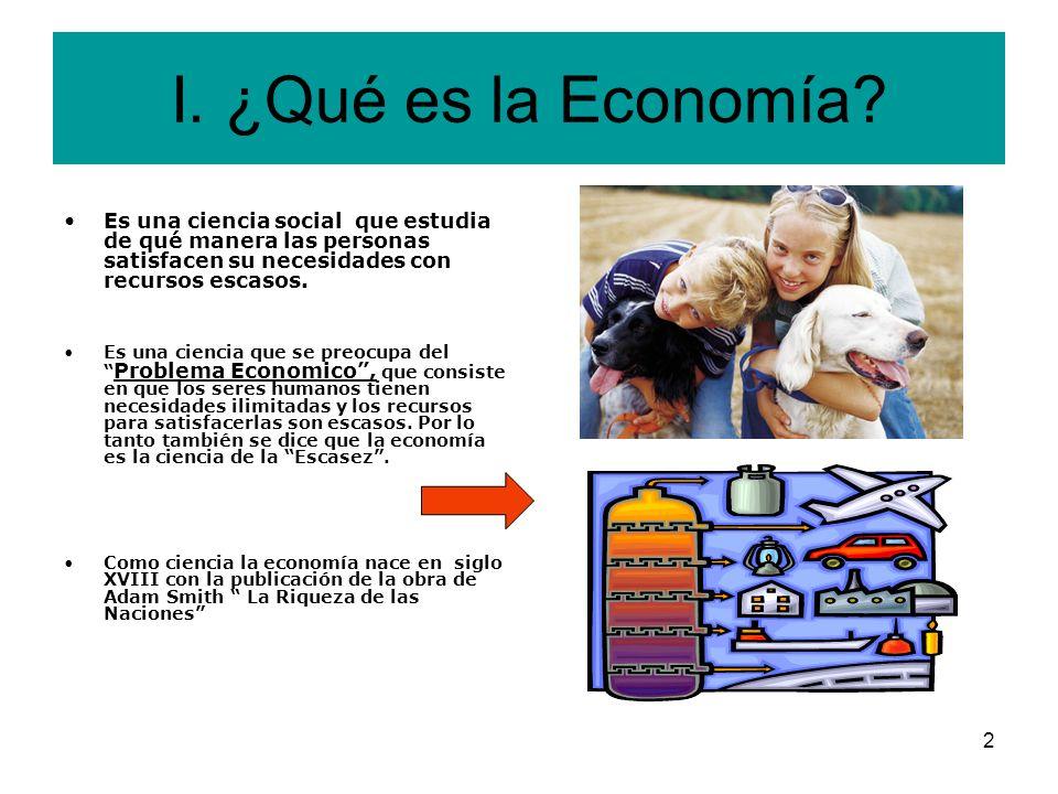 2 I.¿Qué es la Economía.
